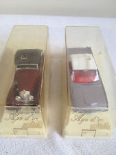 Lot of (2) 1/43  SOLIDO (France) Ford T-Bird 1961 #4503 & Mercedes 540 K #4067
