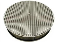"""CHEVY FORD MOPAR 14"""" ROUND POLISHED ALUMINUM AIR CLEANER FINNED"""