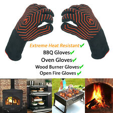 Extreme Heat Resistant BBQ Oven Gloves 500°C Pot Holder Cooking Mitts - Pair