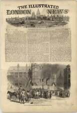 1851 fuego CLOCKTOWER Nuevo Progreso de Educación del Parlamento casas