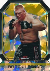 2011 TOPPS UFC FINEST ATOMIC FIGHTER REFRACTOR BROCK LESNAR #FAR-20