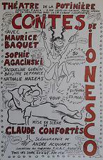 """""""CONTES DE IONESCO de Claude CONFORTES"""" Affiche originale entoilée WOLINSKI 1980"""