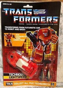 TRANSFORMERS G1 AUTOBOT TECHNOBOT LIGHTSPEED MOSC! COMPUTRON US SELLER RARE!