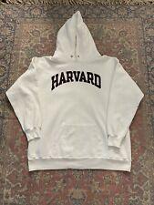 Vintage 80s Champion Harvard College Hoodie Sweatshirt Rare 2XL