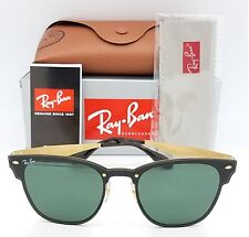 NEW Rayban Blaze Clubmaster Sunglasses RB3576N 043/71 Black Gold Green Club 3576