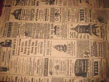 LOT 20 6x9 Newspaper print Paper Kraft Bags,Vintage style Newsprint Favor Craft