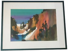 ORIGINAL! Frank Francese Mountain Landscape Watercolor Painting NWS