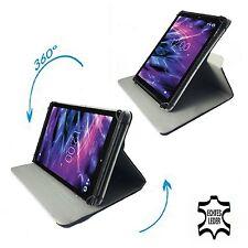 4G Android Tablet PC Schutzhülle Tasche - Echtleder Schwarz  10.1 Zoll 360°