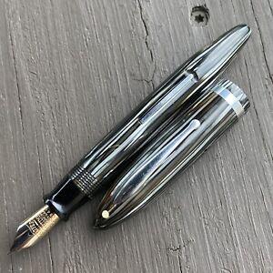 Sheaffer Oversize Balance Fountain Pen, Silver, Extra-Fine 14k Lifetime Nib