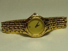 Wittnauer St Steel Gold Case Band Quartz Analog Womens Swiss Watch