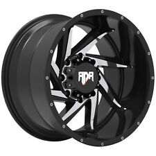 "4-NEW RDR RD13 Vortex 18x9 6x139.7/6x5.5"" -12mm Black/Machined Wheels Rims"