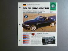 "1997 - Present BMW M Roadster IMP ""Hot Cars"" Spec Sheet Folder Brochure #7-41"