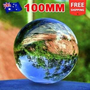 Glass Crystal Lens Ball Transparent Photography Sphere Photo Props Decoration OZ