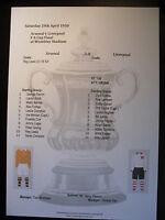 1950 FA Cup Final Arsenal v Liverpool matchsheet
