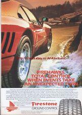 Firestone Ground Control Firehawks Tyres 1987 Magazine Advert #1299
