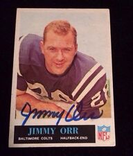 JIMMY ORR 1965 Philadelphia Autographed Signed FOOTBALL Card 156 COLTS
