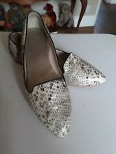 AUTOGRAPH LADIES SNAKE SKIN FLAT SHOES UK5.5