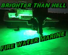 20W SUPER GREEN 1400 LUMEN GARBOARD LED BOAT DRAIN PLUG LIGHT UNDERWATER 1/2 NPT