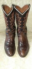 Nocona Vintage Brown Leather Cowboy Boots Size 10 D