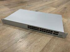 Unclaimed Cisco Meraki Ms120-24P-Hw Gigabit PoE Cloud Managed Access Switch