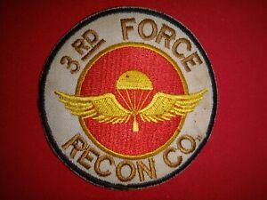 Vietnam War Aufnäher Usmc Marine 3rd Force Recon Company