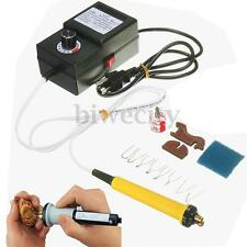 110V 25W Crafts Multifunction Pyrography Machine Gourd Wood Heating Kit Tool