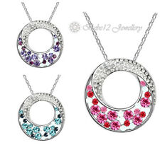 Purple Crystal Ring/Circle Pendant Necklace/RGN065S/109s/110S