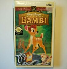 Bambi Vhs Walt Disney Masterpiece 55th Anniversary Limited Edition Sealed