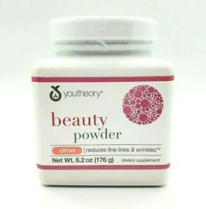 Youtheory Beauty Powder Reduce Wrinkles Citrus Verisol Collagen 6.2 oz Drink Mix
