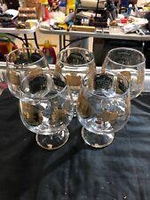 Vintage Gold Trim Wine Goblets Canada Dry Smirnoff Schweppes Majorska Gordon's