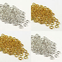 4/5/6/7/8/9/10mm Silver/Gold Plated Open Jump Rings Connector Jewelry Findings