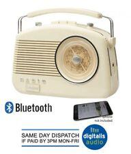 Portable Radio Cream Steepletone Bluetooth Brighton 1950 Retro Style 3 Band