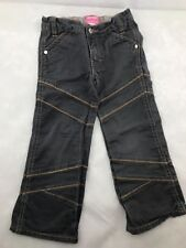Room Seven Girl's Charcoal Pants with Zig-Zag Stitching Size 104 (US 4/5)