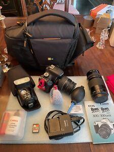 Canon EOS Rebel T2i / Flash / 80mm Lens/ 300mm Lens / 16gb Memory Card