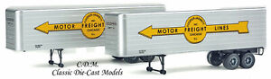 (2) 35' COOPER JARRETT Fluted Side Trailers HO 1/87 Scale Walthers 949-2415