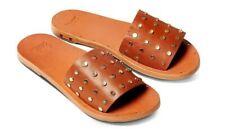 NEW Beek Lovebird Studs Tan Slide Sandals Women's Size 10M NIB Anthropologie