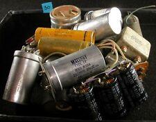 2000uf 30v 470uf 200v Axial & Radial Capacitors - 3Lb Used Grab Bag Vintage