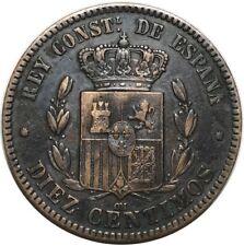 ESPAGNE DIEZ CENTIMOS 1879