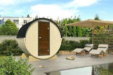 Terrassensauna Ø ca. 204 cm Fasssauna Saunafass Terrassen Sauna Fass Holz