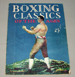 1928 Boxing Classics of The Ages Magazine