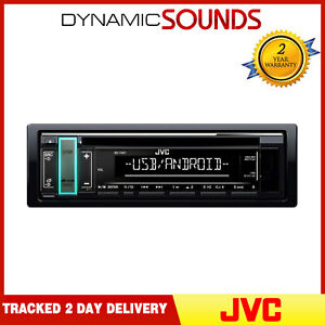 JVC KD-T401 Car CD Receiver Front USB/AUX Input MP3 FLAC Android Playback Tuner