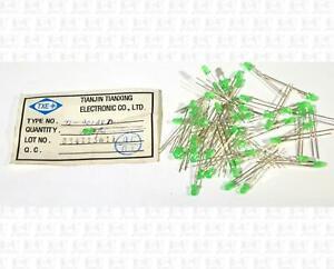 Lot Of 50 TXE 3mm T-1 Green LEDs