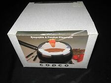 Copco Classic Fondue Set for Cheese, Chocolate (Black) Wilton
