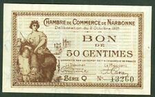 NECESSITE 50 CENTIMES CHAMBRE DE COMMERCE DE NARBONNE  ETAT: SPL lot 611