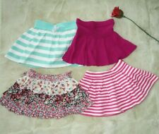 LOT of 4 cute toddler girls Mini Skirts, floral, stripes size 2T 3T