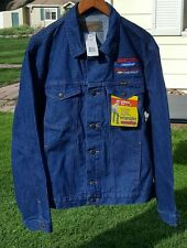 NWT MENS XL WRANGLER COWBOY CUT BLUE JEAN JACKET W/MONTANA  CHEVROLET DEALERSHIP