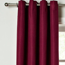 """John Lewis Textured Weave Lined Eyelet Curtains Dark Pink W228 x D228cm 90 x 90"""""""