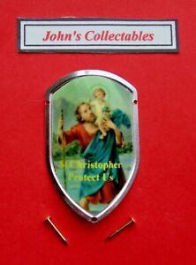 ST CHRISTOPHER WALKING / HIKING STICK BADGE / MOUNT  LOT M NEW IN PACKET