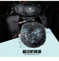 Universal PU Leather Motorcycle Rear Bag Retro Seat Tail Pack Riding