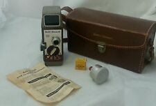 8mm Bell & Howell 252 Movie Camera Leather Case Telephoto Attachment Kodak Ring
